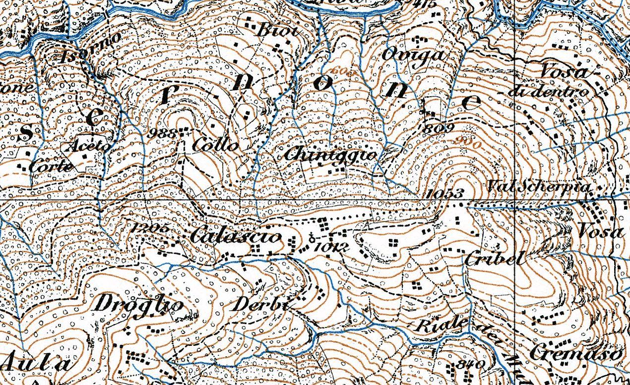 Erste offizielle Wanderkarte mitsamt der Alp Collo